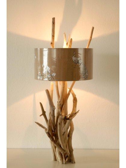 aparte treibholz tischlampe flora pfauna aus. Black Bedroom Furniture Sets. Home Design Ideas
